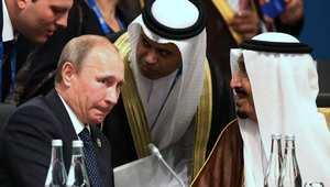 الرئيس الروسي فلاديمير بوتين مع ولي العهد السعودي الأمير سلمان بن عبد العزيز في قمة العشرين باستراليا 15 نوفمبر/ تشرين الثاني 2014