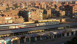 صورة لمحطة القطار في مدينة اسوان بجنوب مصر