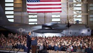 أوباما متحدثا أمام جنوده: قصفنا ينهال على داعش مثل ضربات المطرقة.. لكن المعركة قد تطول
