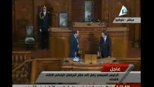بالفيديو.. عبدالفتاح السيسي يتعرّض لموقف مضحك أمام البرلمان الياباني
