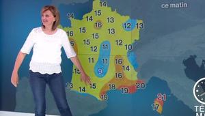 بالفيديو: مذيعة طقس في قناة فرنسية تتعرّض لموقف محرج