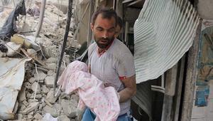 أكثر من 50 قتيلا و200 مصاب في غارات على حلب السبت