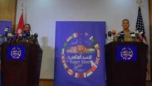 لقطة من المؤتمر الصحفي