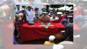 جانب من الجنازة التي أقيمت للطيار ياسين البحتي