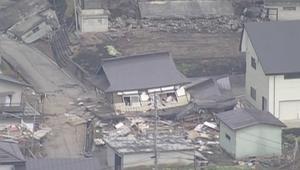 كيف يبدو الدمار الذي خلفه زلزال اليابان من الجو؟