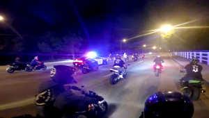 في هذا الفيديو.. من يطارد الآخر.. سائقو الدراجات أم الشرطة؟