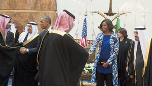 مشيل أوباما بالسعودية