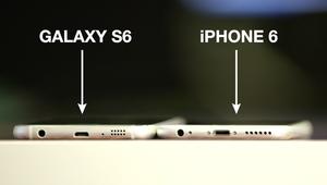 تشابه كبير بين هاتفي غالاكسي إس 6 وآيفون 6
