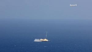 بالفيديو.. انفجار صاروخ فالكون 9 في ثالث هبوط فاشل