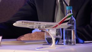 نموذج طائرة تابعة لطيران الإمارات