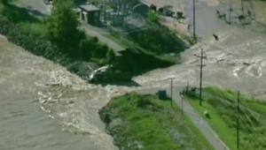 شاهد من الجو.. المناطق التي دمرتها الفيضانات في