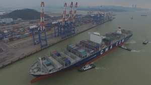 CNN من داخل أكبر سفينة شحن بضائع بين الصين وأمريكا