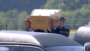 جثث ضحايا الرحلة الماليزية 17