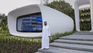 حاكم دبي يفتتح أول مكتب مطبوع بتكنولوجيا الطباعة ثلاثية الأبعاد