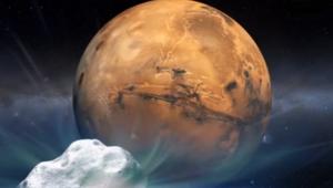 المريخ ينجو بسلام بعد مرور مذنب بالقرب من سطحه