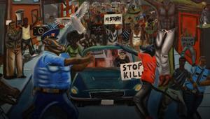 إزالة لوحة فنية عن حقوق السود وأحداث