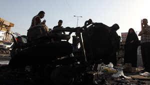 آثار انفجار في مدينة الصدر ببغداد 16 يوليو/ تموز 2014