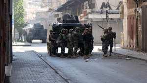 القوات اللبنانية أثناء المواجهات