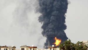 أصيب خزان وقود آخر بالمواجهات المسلحة الجارية