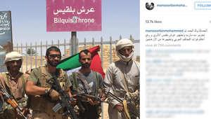 بالصور.. نجل حاكم دبي ينشر لقطات خلال مشاركته قوات التحالف في اليمن وتحرير