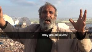 بالفيديو.. القذائف تسقط على مخيم قرية الكمونة.. ورجل يخرج عن طوره أمام الكاميرا