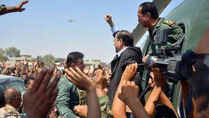 صورة من صفحة المالكي لدى وصوله آمرلي
