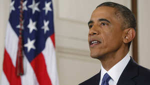 الرئيس الأمريكي أوباما خلال إلقائه خطابا حول نظام الهجرة الجديد