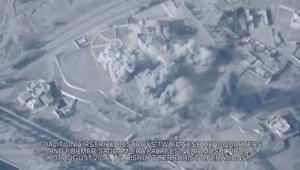 لحظة تدمير قصر لصدام حسين يستخدمه داعش