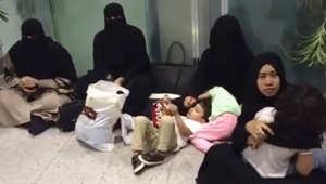 بالفيديو.. مسافرات بالسعودية يثرن ضجة بعد منعهن من دخول قاعة الجلوس بمطار ينبع