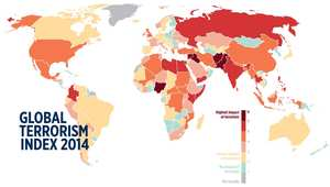 ترتيب دول الشرق الأوسط بحسب مؤشر الإرهاب الدولي للعام 2014