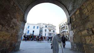 منطقة باب بحر في قلب العاصمة تونس