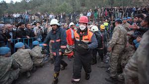 فرق الطوارئ تسابق الزمن لإنقاذ عشرات العمال حاصرتهم المياه داخل منجم للفحم بجنوب تركيا