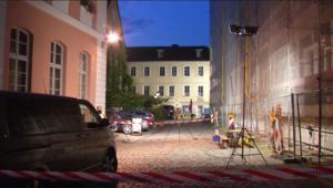 اللقطات الأولى بعد تفجير مهاجر سوري نفسه في انسباخ الألمانية