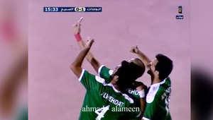 لاعب الوحدات الأردني سجل هدفا ثمّ التقط صورة