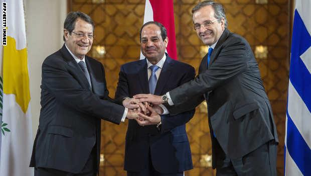 الصفقة الفرنسية لم تموت بعد .... مصر على وشك التعاقد على الرافال - صفحة 2 Al-Sisi-Anastasiades-Samaras