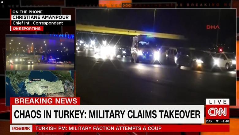 أنباء عن انقلاب عسكري في تركيا.. ورئيس الوزراء: محاولة تمرد لن نسمح لها بالنجاح