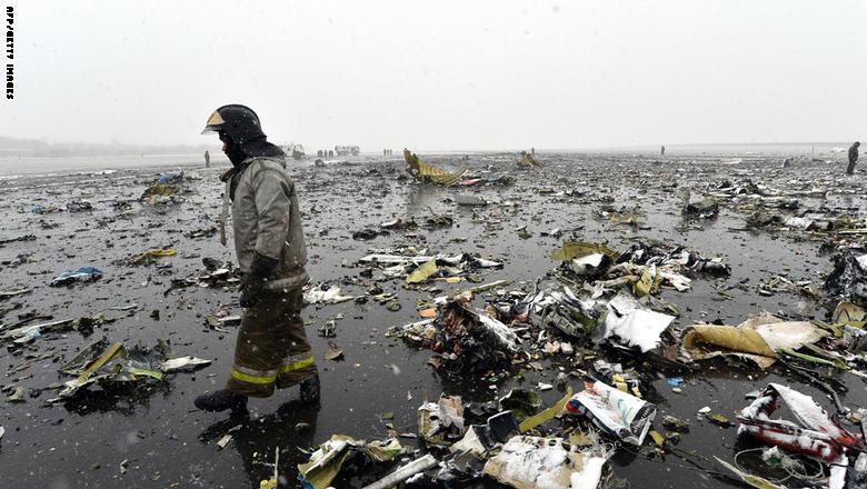 مقتل 62 شخصا في تحطم طائرة ركاب لشركة فلاي دبي جنوبي روسيا GettyImages-516469970