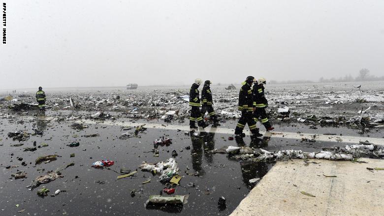 مقتل 62 شخصا في تحطم طائرة ركاب لشركة فلاي دبي جنوبي روسيا GettyImages-516470010