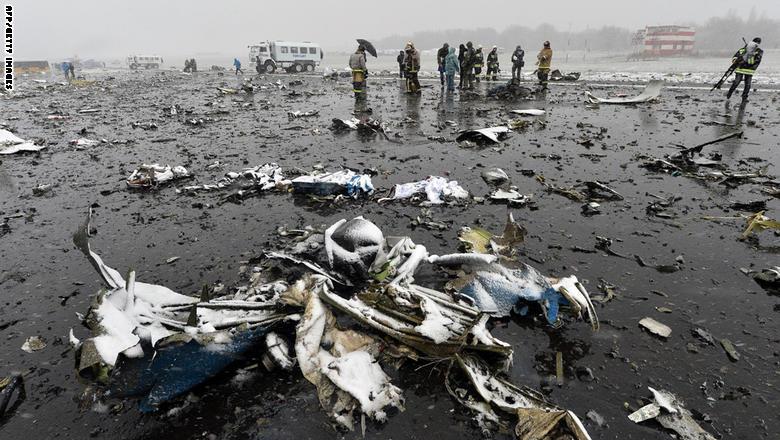 مقتل 62 شخصا في تحطم طائرة ركاب لشركة فلاي دبي جنوبي روسيا GettyImages-516470012