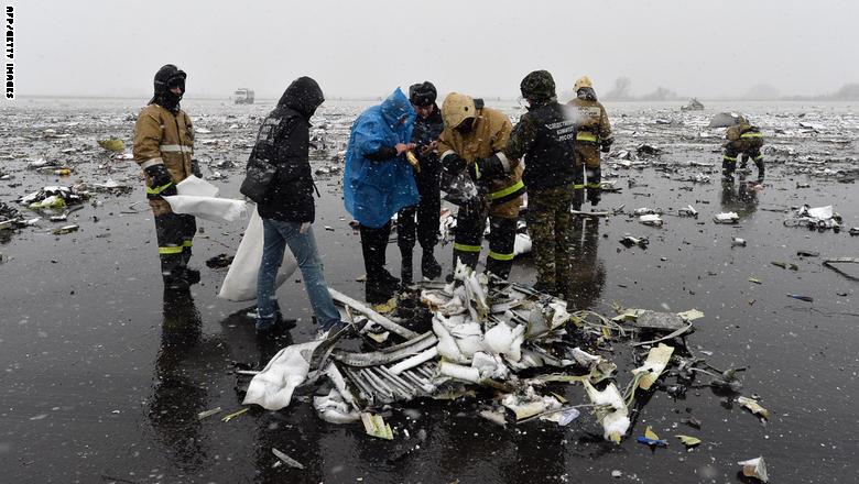 مقتل 62 شخصا في تحطم طائرة ركاب لشركة فلاي دبي جنوبي روسيا GettyImages-516470018