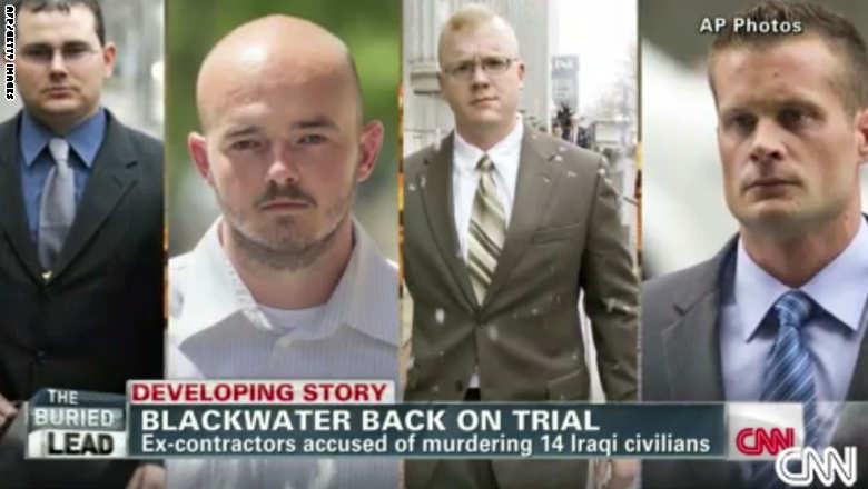 """أمريكا: المؤبد لعنصر من بلاكووتر والسجن 30 عاما لـ3 آخرين لقتلهم 17 عراقيا بـ""""ساحة النسور"""" Blackwater-court"""