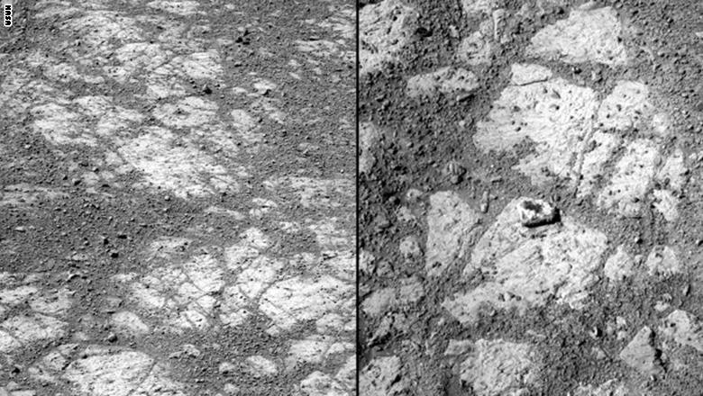"""حل لغز """"بينكال أيلاند"""" الصخرة المتحركة الغامضة على سطح المريخ"""