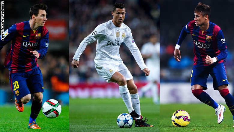رونالدو وميسي وثالثهما نيمار.. لمن ستذهب الكرة الذهبية؟