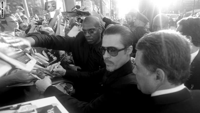 لكمة على وجه براد بيت في افتتاح فيلم أنجلينا جولي