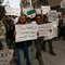 أنصار جبهة النصرة التابعة لتنظيم القاعدة يتظاهرون في مدينة حلب