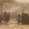 عائلات هاربة من الرمادي تعلق وسط عاصفة رملية بعد أغلاق الطريق باتجاه بغداد