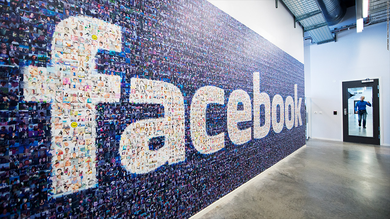 facebook logo wall