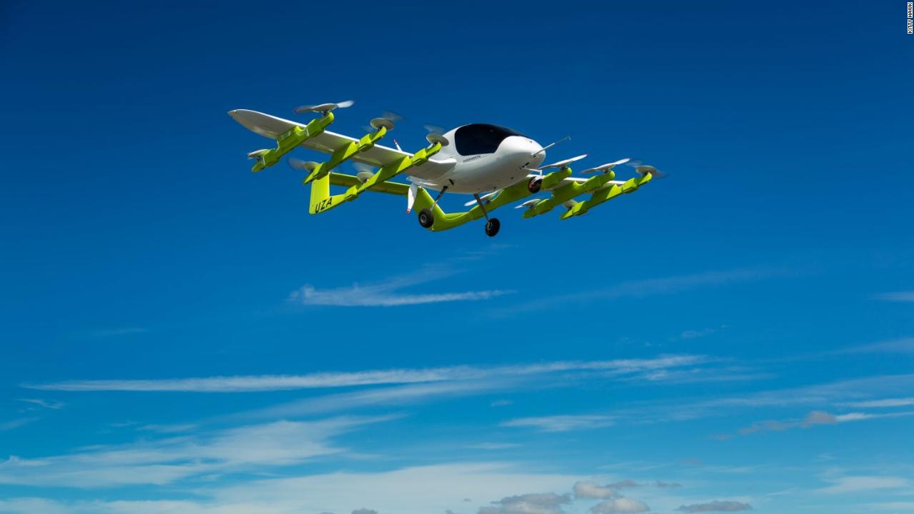 Google cofounder's flying taxi takes to the skies