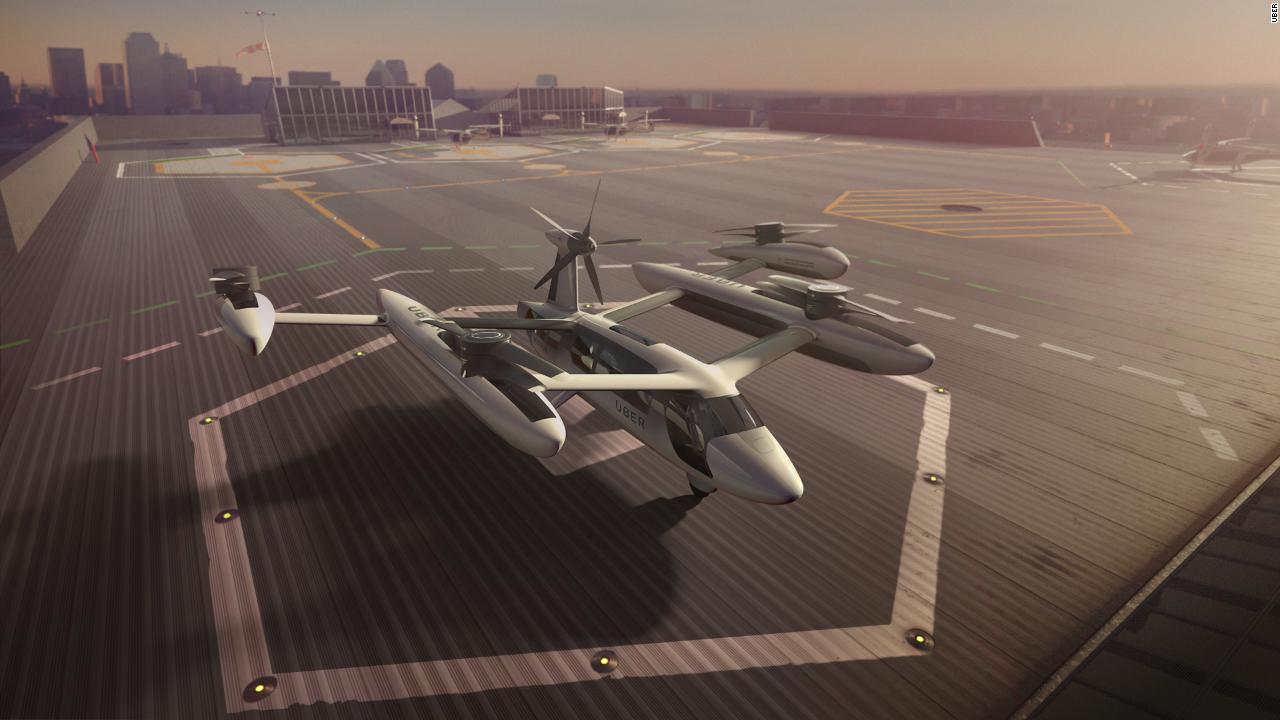 Uber Flying Taxis Clean