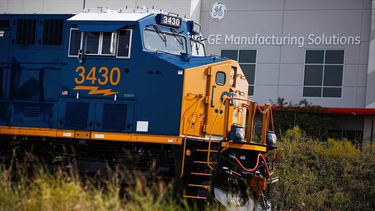 General Electric debt transportation rails trains ge